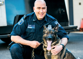 The Alexandria Police Foundation provides health insurance for retired dogs.